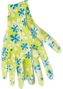 Перчатки садовые из полиэстера с нитриловым обливом