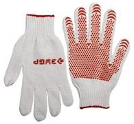 Перчатки трикотажные х/б с защитой от скольжения, размер XL