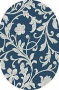 Ковёр коллекции SILVER 0,8*1,5м OVAL-BLUE