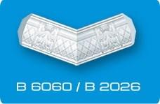 Плинтус потолочный Декоративный элемент/Угол внутренний В2026/В6060