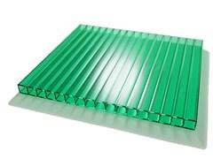 Сотовый поликарбонат Зелёный  6*2100*12000 ( 12 метров), на метраж, цена за метр