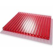 Сотовый поликарбонат Красный  4*2100*12000мм ( 12 метров), на метраж, цена за метр