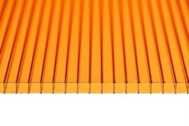Сотовый поликарбонат Янтарный 4*2100*12000мм ( 12 метров), цена за метр