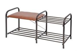 """Этажерка """"Люкс 1""""(360*330*800) 2-x ярусная с мягким сиденьем ЭТЛ1"""