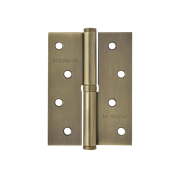 "НМ Петля сталь 750-4"" без колпачка (Бронзовое покрытие) (Левая) размер: 100x75x2,5"