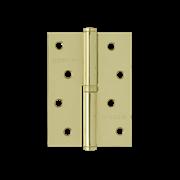"""НМ Петля сталь 750-4"""" без колпачка (Латунное покрытие) (Правая) размер: 100x75x2,5"""