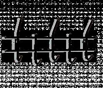 Вешалка настенная Эликор Стандарт 2/5 В2-5-5 Черный/Черный