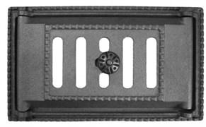 Дверка ДПК (Рубцовск) поддувальная крашеная ЧЁРНАЯ 250*140 (ДП-2А)