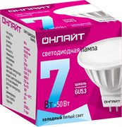 Лампа светодиодная ОНЛАЙТ 71 641 ОLL-MR16-7-230-4K-GU5.3