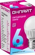 Лампа светодиодная ОНЛАЙТ 71 646 ОLL-G45-6-230-4K-E27