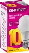 Лампа светодиодная ОНЛАЙТ 71 649 ОLL-A60-10-230-2.7K-E27
