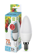 Лампа светодиодная ASD Свеча С37 Е14  7,5 W (600lm) 4000К пластик/алюм standart