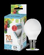 Лампа светодиодная ASD Шар Р45 Е14  7,5 W (600lm) 4000К пластик/алюм standart