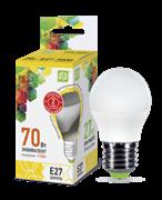 Лампа светодиодная ASD Шар Р45 Е27  7,5 W (600lm) 3000К пластик/алюм standart
