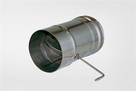 Задвижка ( шибер нержавеющая сталь 0.5мм) диаметр 200 поворотная
