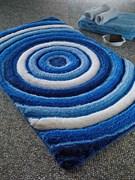 Коврик Сonfetti ELIT60*100 синий-голубой