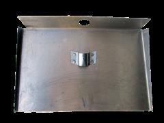 Лопата-движок 3 бортовый алюминий 500*350мм без черенка с накладным 12см верхним креплением д-40мм