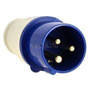 Вилка электрическая кабельная 16А 2Р+Е 220В IP44  ЭКФ (013)