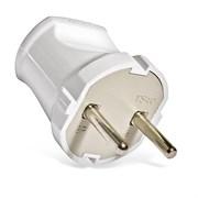 Вилка электрическая без заземления белая 6А,  UNIVersal А113