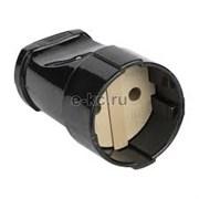Штепсель EKF без заземления Черное 10А 250В ASG10-30
