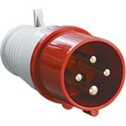 Электрическая вилка кабельная 16А 3Р+Е+N 380В IP44 ИЭК (015)