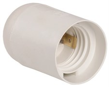 Патрон Е-27 люстровый термостойкий пластик белый LHP-E27-г