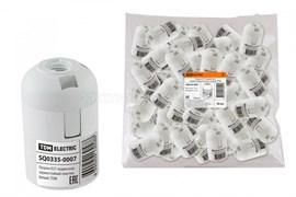 Электрический патрон Е27 термостойкий пластик, подвесной, Белый