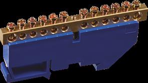 Шина нулевая на DIN-изолятор 6*9-12 Navigator 4670004711552