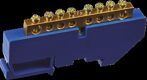 Шина нулевая на DIN-изолятор 6*9-8 Navigator 4670004711538