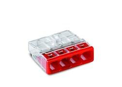 Клемма WAGO 2273-244,  4*(0,5-2,5мм) 4-х провод. для распределительной коробки (с пастой)