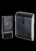 Звонок беспроводной полифонический 25 мелодий 150м белый 1 кнопка КОС АG512С