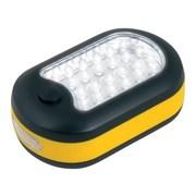Фонарь Uniel автомобильный S-CL014-C (3xR03) 24 светодиода + 3 светодиода жёлтый/пластик магнит/крючок