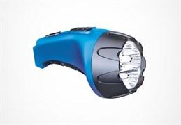 Фонарь Фотон ручной (акк.4V 0,5Ah) 4 светодиода  синий/пластик
