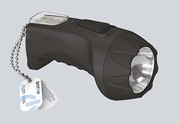 Фонарь Фотон ручной (акк.4V 0,6Ah) 1 светодиод  черный/пластик
