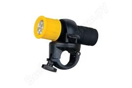 Фонарь велосипедный Ultraflast LED652 (3*R03) 9 светодиодов жёлтый/пластик