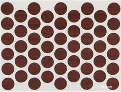 Заглушка самоклеющаяся WEISS D=14мм  Ореx темный 50шт