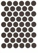 Заглушка самоклеющаяся WEISS D=14мм А-7104 Венге 50шт