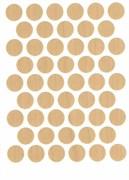 Заглушка самоклеющаяся WEISS D=14мм А-7156 Клен 50шт