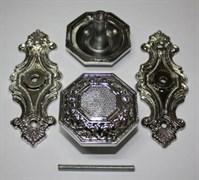 Ручка кнопка 08-П-002  серебро