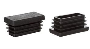 Заглушка пластик квадратная 40*20 внутренняя,черная А150040
