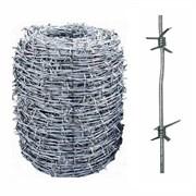 Проволока колючая термически обработанная оцинкованная диаметр 2,8 мм
