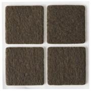 Накладки STAYER COMFORT на мебельные ножки/самоклеящиеся/фетровые/коричневые/квадрат 25*25мм 4шт