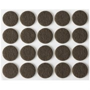 Накладки STAYER COMFORT на мебельные ножки/самоклеящиеся/фетровые/коричневые/круглые d16мм 20шт