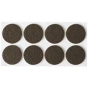 Накладки STAYER COMFORT на мебельные ножки/самоклеящиеся/фетровые/коричневые/круглые d25мм 8шт
