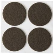 Накладки STAYER COMFORT на мебельные ножки/самоклеящиеся/фетровые/коричневые/круглые d50мм 4шт