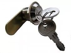 Почтовый замок ЕVRO 16  металл малый ключ толст гайка