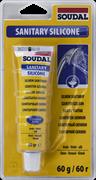 Герметик силиконовый санитарный белый 60 г Soudal