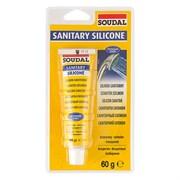 Герметик силиконовый санитарный прозрачный 60 г Soudal