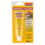 Герметик силиконовый универсальный прозрачный 60 г Soudal