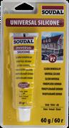 Герметик силиконовый универсальный белый 60 г Soudal